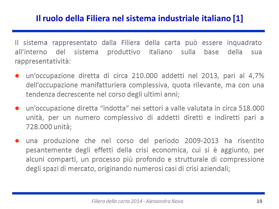 Il ruolo della Filiera nel sistema industriale italiano [1]